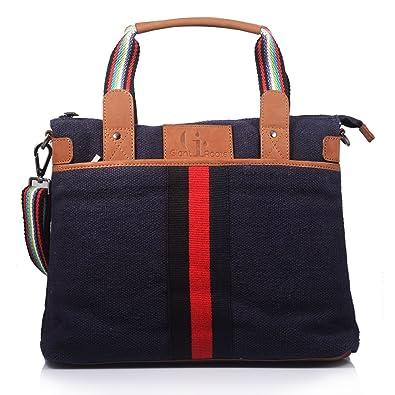 be6022a1d5ba Women s Designer Canvas Top-Handle Shoulder Handbag By Giant Roots ...