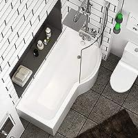Abacus 1600 x 850mm Right Hand P-Shaped Shower Bath Bathtub