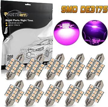 Quaanti 2 x White 16-SMD 31mm LED Lights 5050 DE3175 Interior Dome Map Lights 12V#11010 White