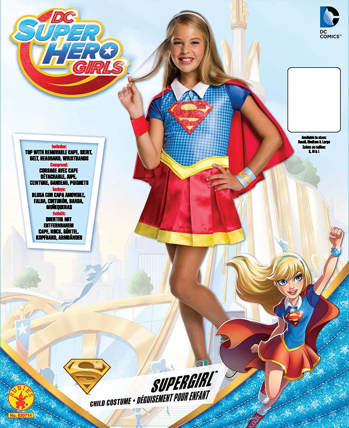 Amazon.com Rubieu0027s Costume Kids DC Superhero Girls Deluxe Supergirl Costume Large Toys u0026 Games  sc 1 st  Amazon.com & Amazon.com: Rubieu0027s Costume Kids DC Superhero Girls Deluxe Supergirl ...