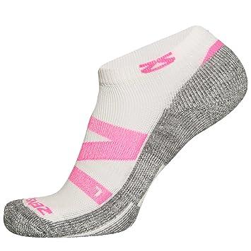 Zensah - Hombre Game Point Tenis Calcetines de compresión, Todo el año, Hombre, Color Rosa neón, tamaño M: Amazon.es: Deportes y aire libre