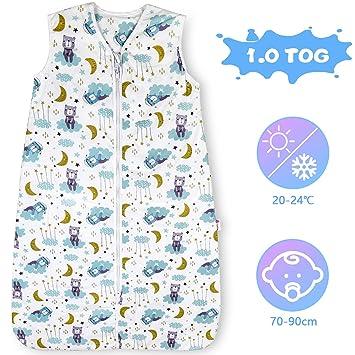 Lictin Schlafsack Baby Sommerschlafsack Babyschlafsack Einstellbar 70-90cm f/ür Neugeborene 3-18 Monate