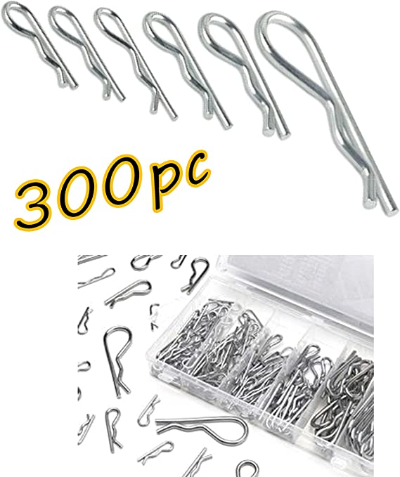 Eyourlife 4 Pack Stainless Steel R Clips Retaining Hair Pins Cotter Spring Hitch Cotter Pin Wire Hair Pins