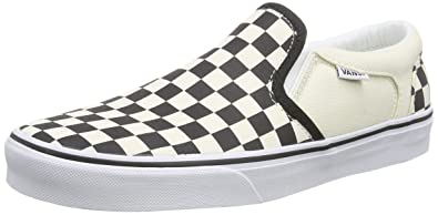 5b87aa730d VANS MENS ASHER (CHECKERS) SHOES BLACK (CHECKERS ) BLACK SIZE 8