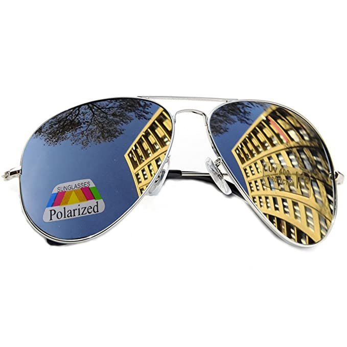 MFAZ Morefaz Ltd Niños Niño Niña Gafas De Sol Polarizadas Espejada Estilo Piloto (Silver Espejada): Amazon.es: Ropa y accesorios