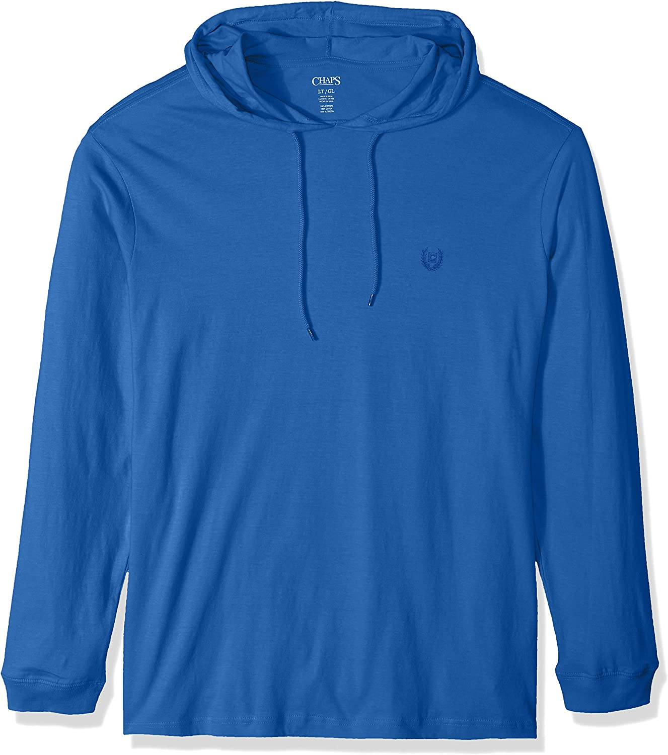 Chaps Mens Big and Tall Long Sleeve Light Weight Popover Hoodie