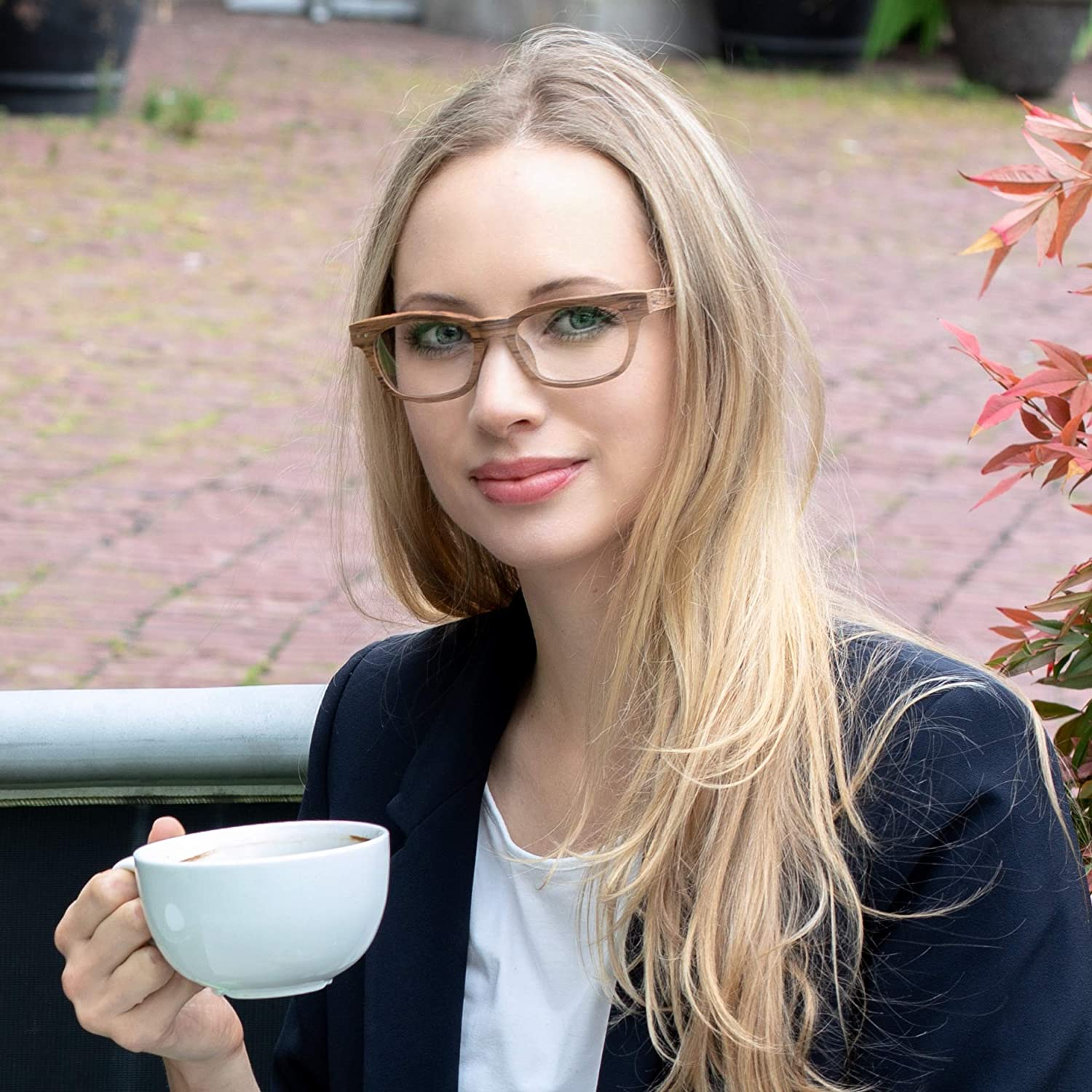 8643bdcd31 Amazon.com  Seymour and Smith Yaletown Yew Reading Glasses for Men and  Women (Blonde Wood