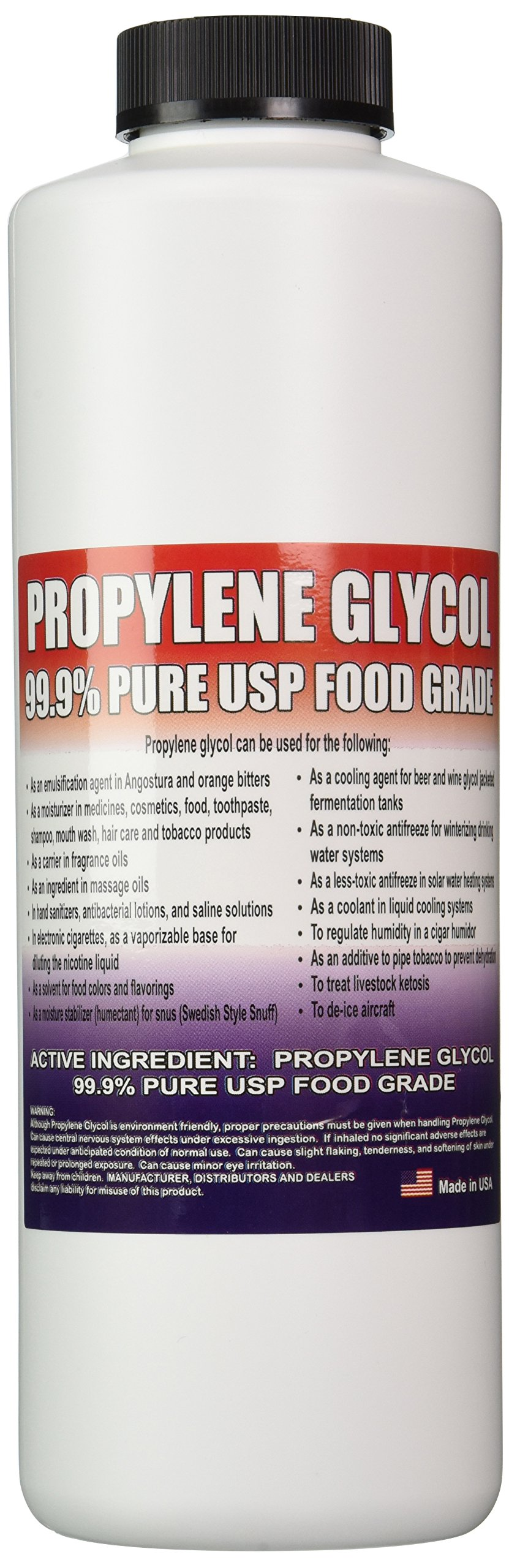 Propylene Glycol - Food Grade USP - 1 Quart (32 Oz.)
