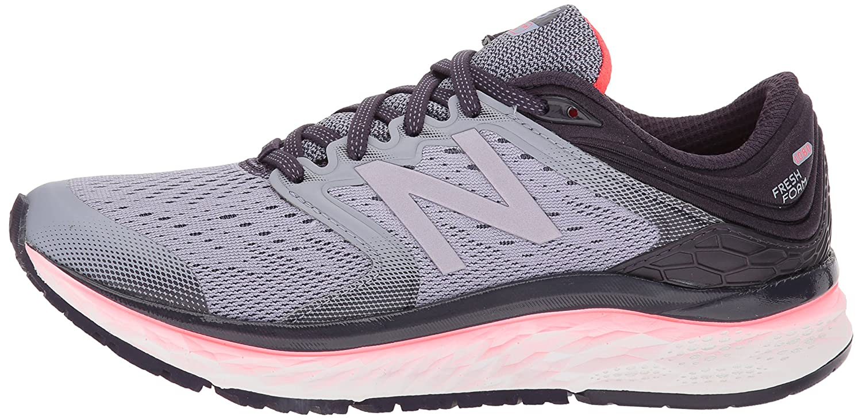 New Balance Women's 1080v8 Fresh Foam Running Shoe B06XSCLF39 7 D US|Elderberry/Vivid Coral