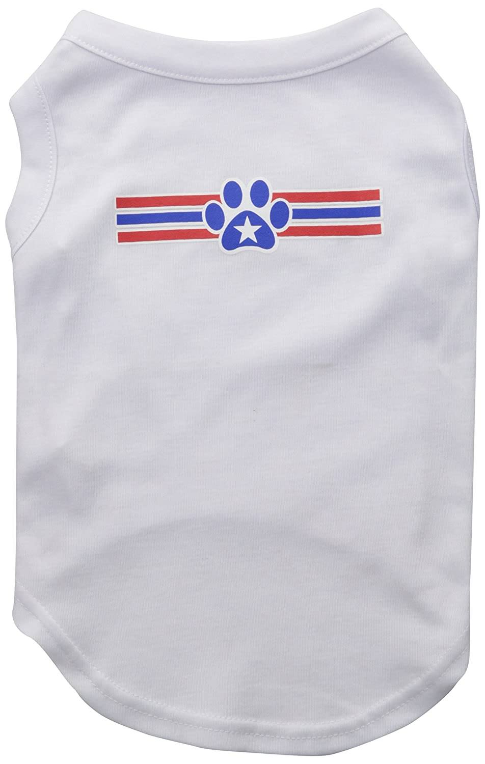 Mirage Pet Products 16-Inch Patriotic Star Paw Screen Print Shirts for Pets, X-Large, White