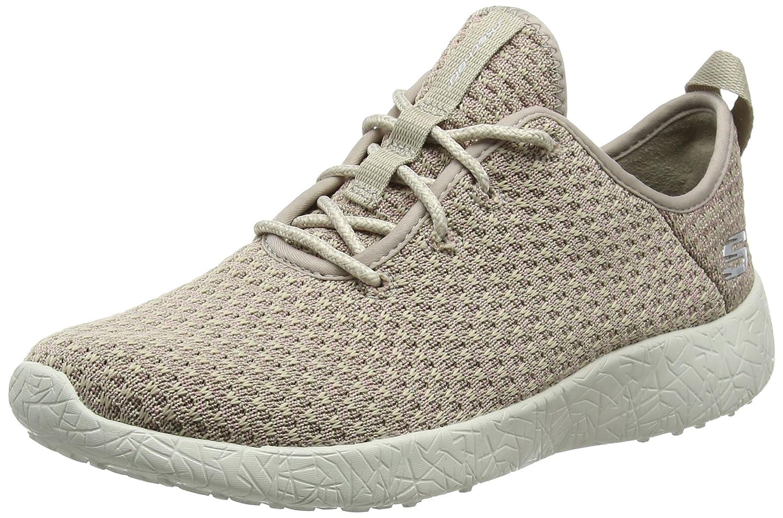 Skechers Damen Burst Sneakers, Schwarz/Weiß, 38 M EU  37 EU|Beige (Nat)
