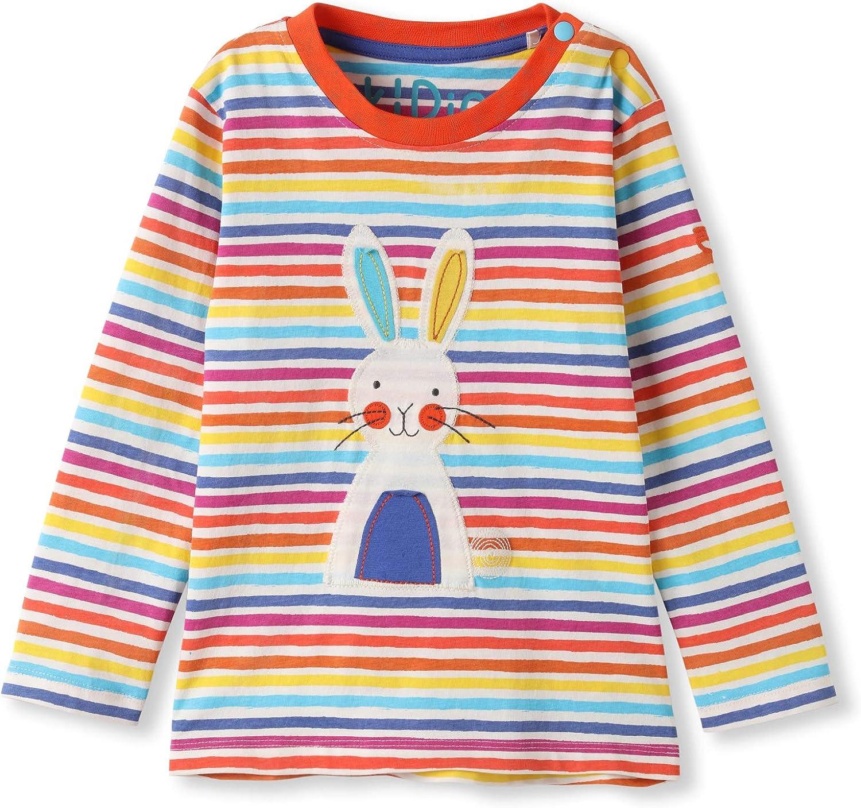 Baby Kleinkind M/ädchen Junge kIDio Bio-Baumwolle Langarmshirt mit Applikation 0-4 Jahre