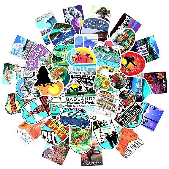 Amazon.com: Outdoor Nature Sticker Pack 100 Pcs Wilderness ...