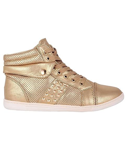 KRISP - Zapatillas Deportivas Mujer, Dorado (Dorado), 40: Amazon.es: Zapatos y complementos