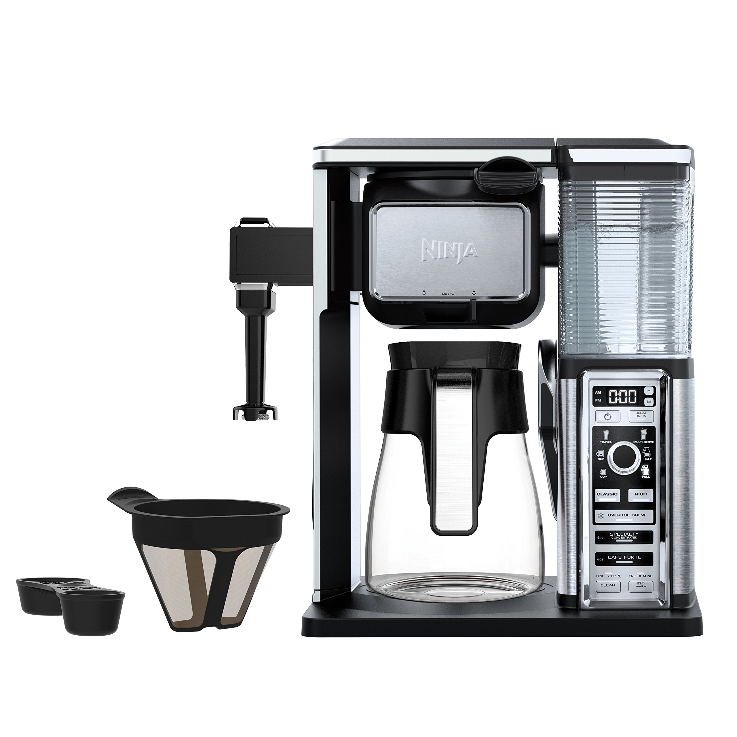 Ninja Coffee Bar Brewer System with Glass Carafe (CF091) by SharkNinja