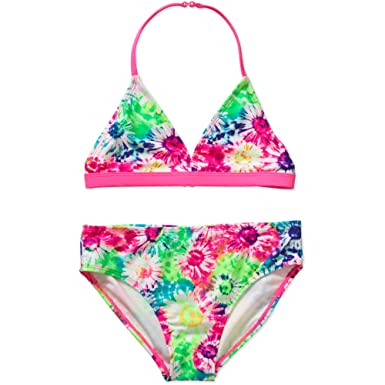 45eae4eba6 Girls OP Assorted Floral Ocean Pacific Bikini Swimsuit Bathing Suit (XS 4-5