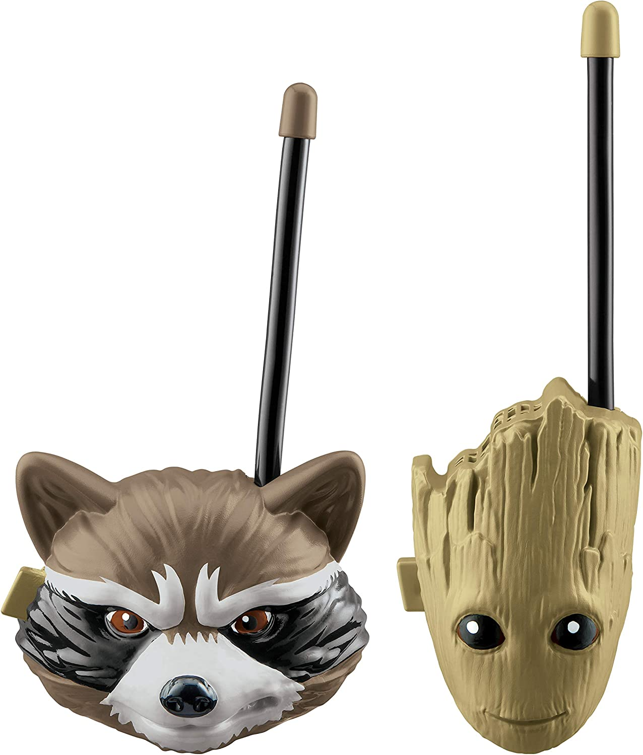 Guardians of The Galaxy Groot and Rocket Racoon Walkie Talkies for Kids Static Free Extended Range Kid Friendly Easy to Use 2 Way Walkie Talkies