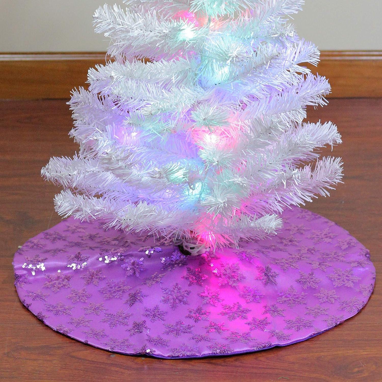 Northlight 20 Purple Sequin Snowflake Mini Christmas Tree Skirt
