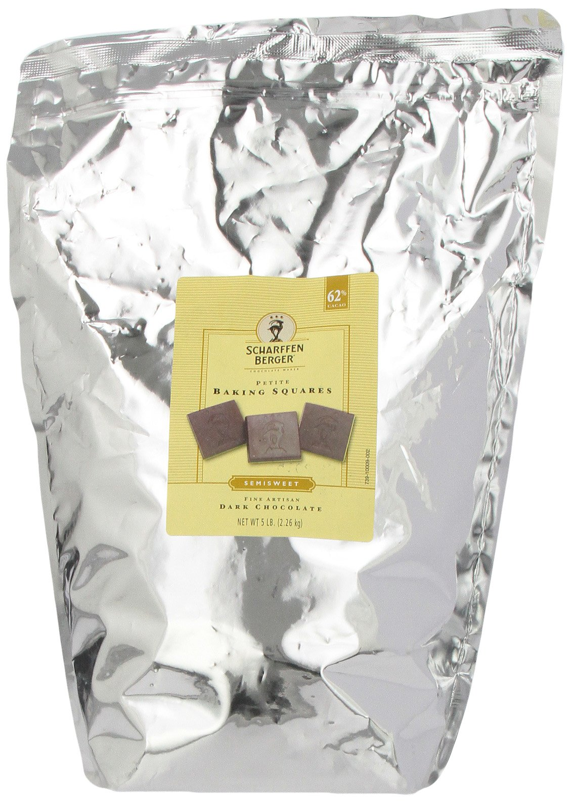 SCHARFEEN BERGER Petite Baking Chocolate Squares, Semisweet, 5 Pound