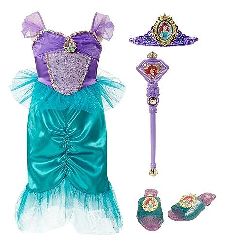 amazon com disney princess 94904 ariel tiara to toes dress up set