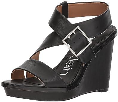5c2ea9f7a1a Calvin Klein Women s Palma Sandal Black 5.5 Medium US