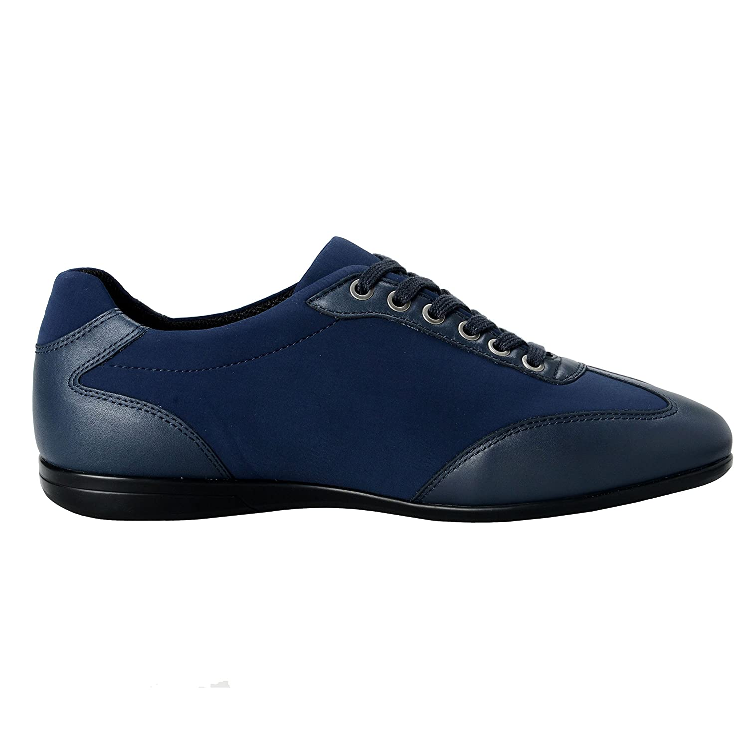 Amazon.com: Versace Collection Men's Blue Leather Fashion Sneakers Shoes US  8 IT 41;: Clothing