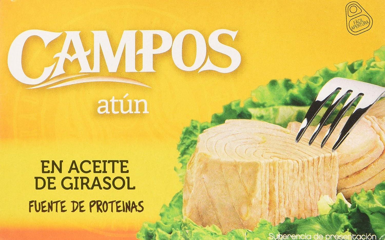 CAMPOS Conserva de atún en aceite de girasol - lata oval de 220 gr