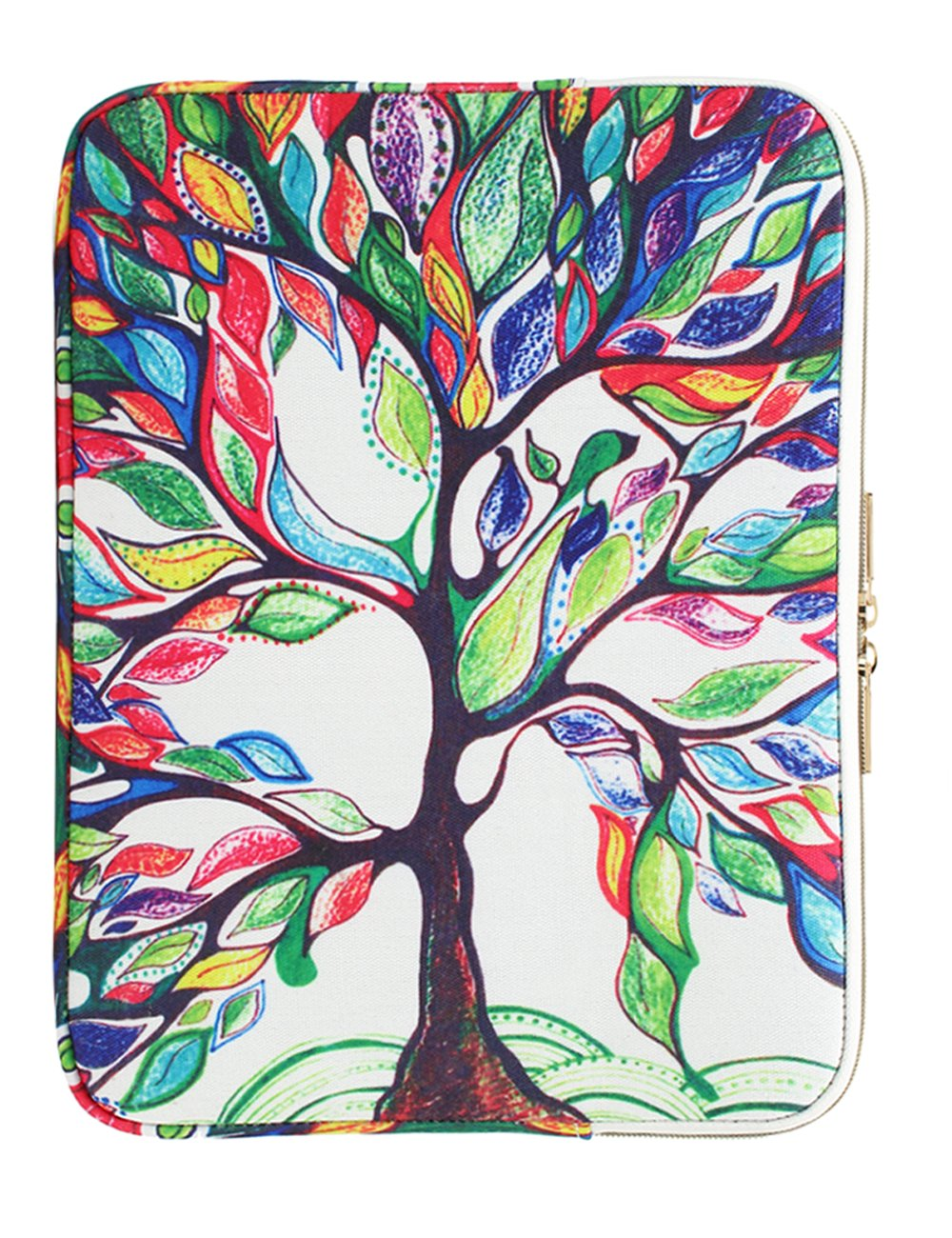 CoolBELL 15.6 Inch Laptop Sleeve Case Cover With Colorful Life Tree Pattern Ultrabook Sleeve Bag For Ultrabook like Macbook Pro/Macbook Air/Acer/Asus/Dell/Lenovo/Women/Men