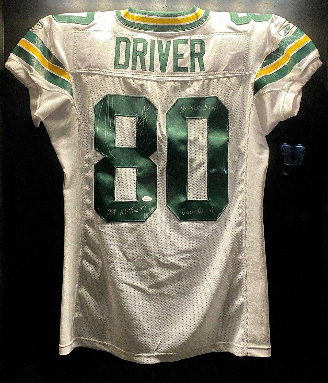 Donald Driver Signed SB XLV 2010 Team Issued Packers NFL Game ...