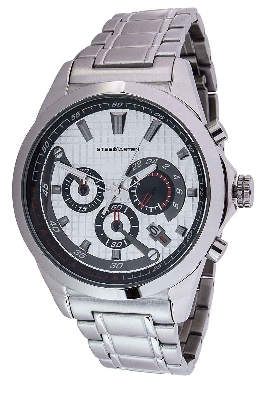 Steel Master Herren-Armbanduhr XL Chronograph Quarz Analog Edelstahl - CAP1103190.A