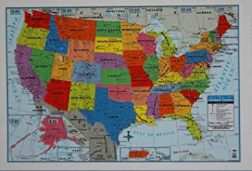 Amazoncom Teaching Tree United States Wall Map X Wall Art - Maps united states