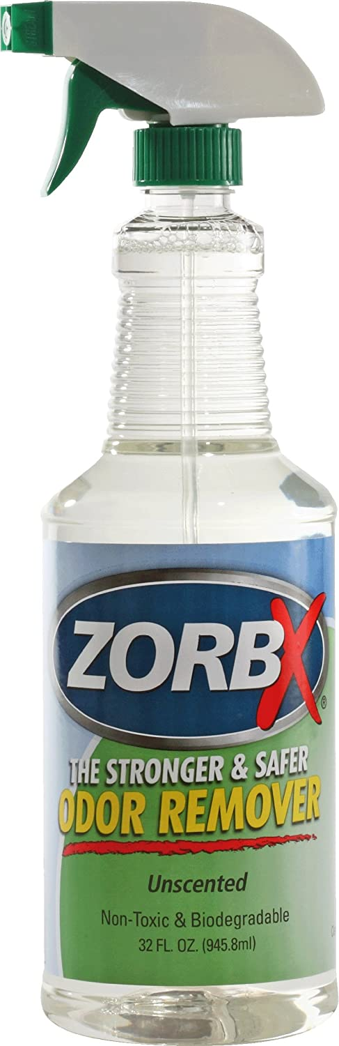 ZORBX Unscented Multipurpose Odor Remover –Safe for All, Even Children, No Harsh Chemicals, Perfumes or Fragrances, Stronger and Safer Odor Remover Works Instantly (32oz.)