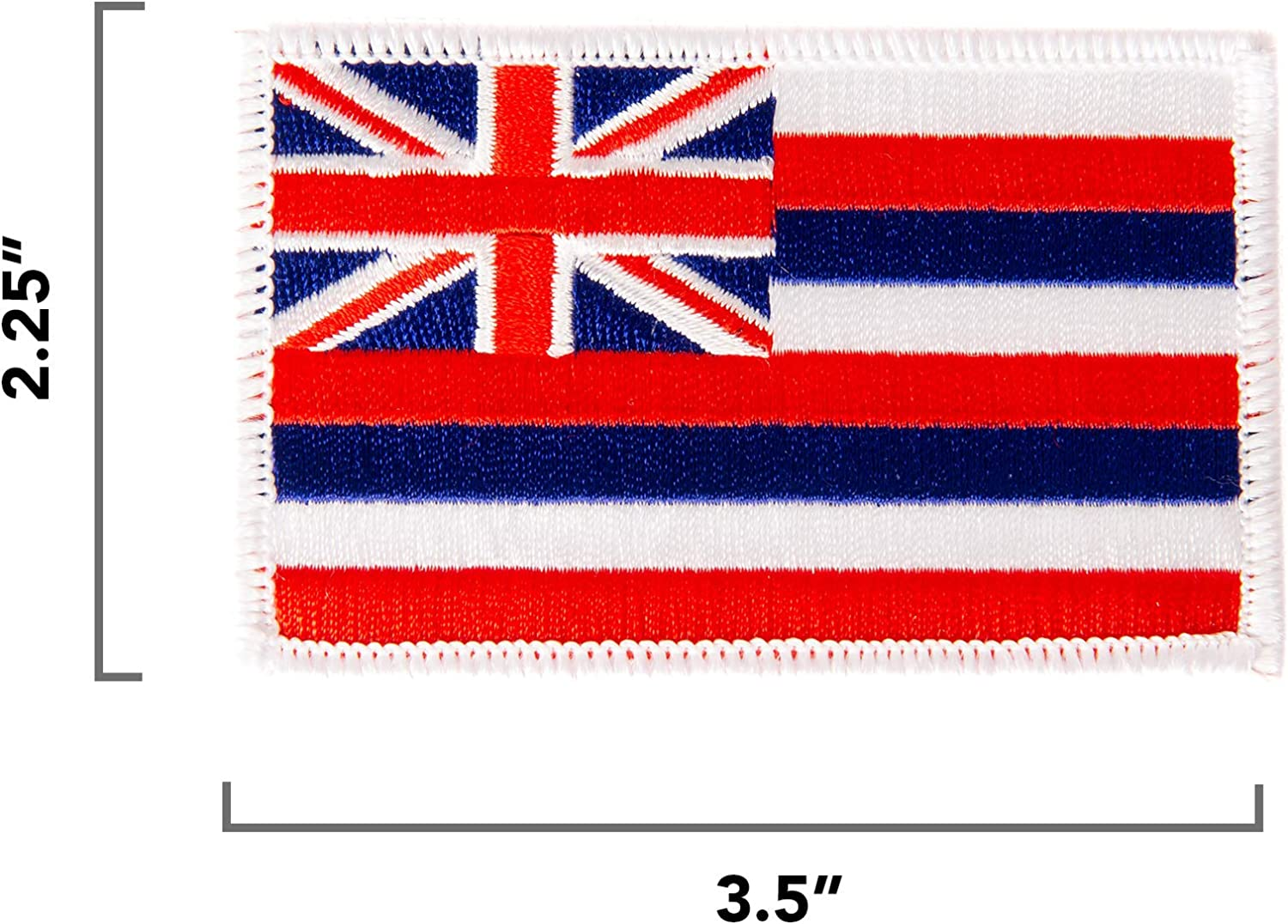 Hawaii State Flag Patch Embroidered Iron On Applique
