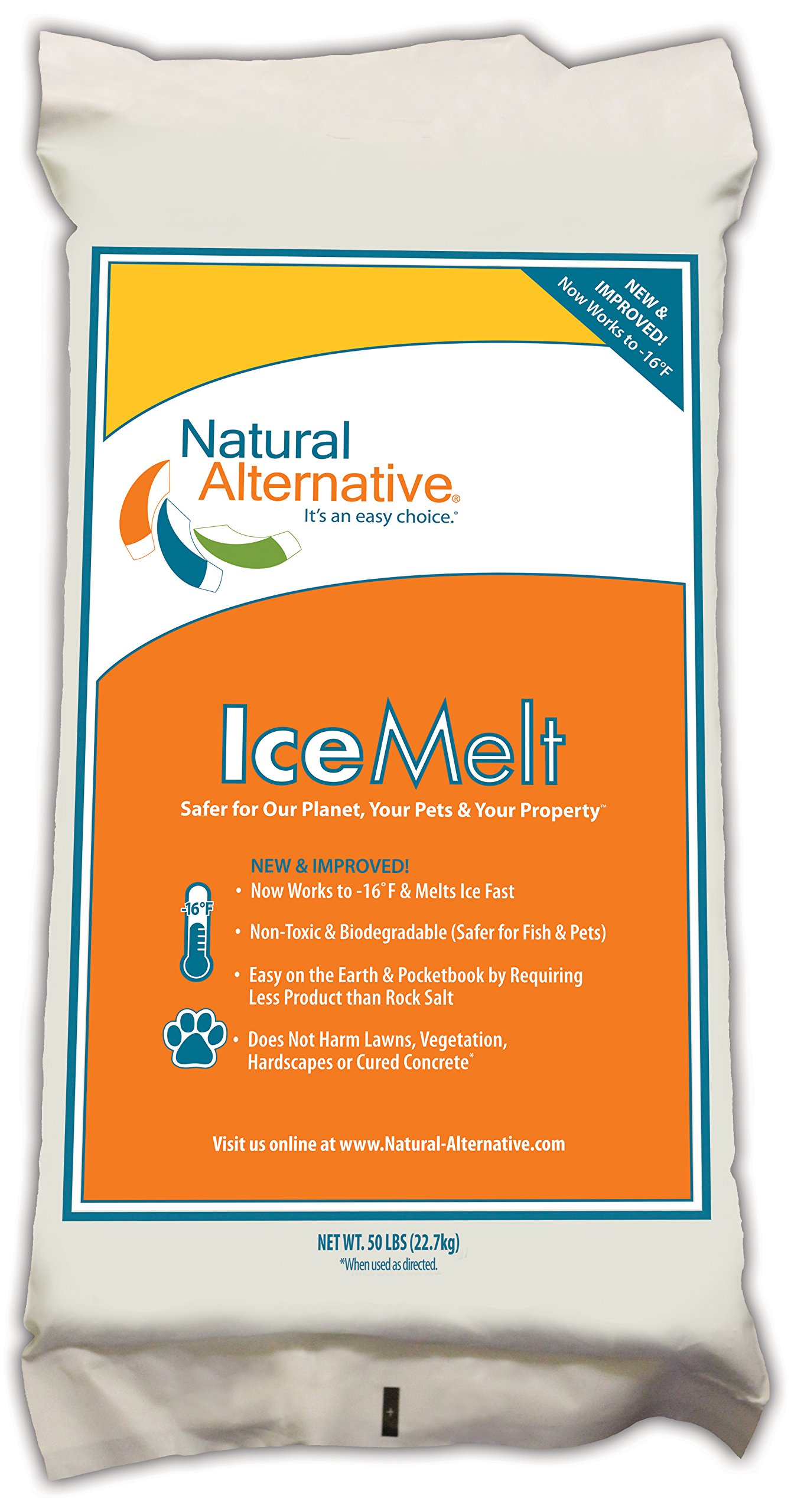 Natural Alternative Ice Melt Another NATURLAWN Product - 50 Lb Bag - Safer for Pets, Property & the Environment