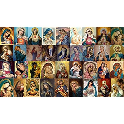 Wooden Jigsaw Puzzle 1500 PCS Virgin Mary Pattern Large Size 1500 Pieces of Wooden Puzzle,Unique Home Decorations and Gifts: Toys & Games