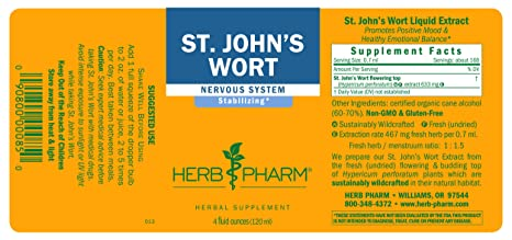 Amazon.com: Herb Pharm St. John\'s Wort Extract for Positive Mood and ...