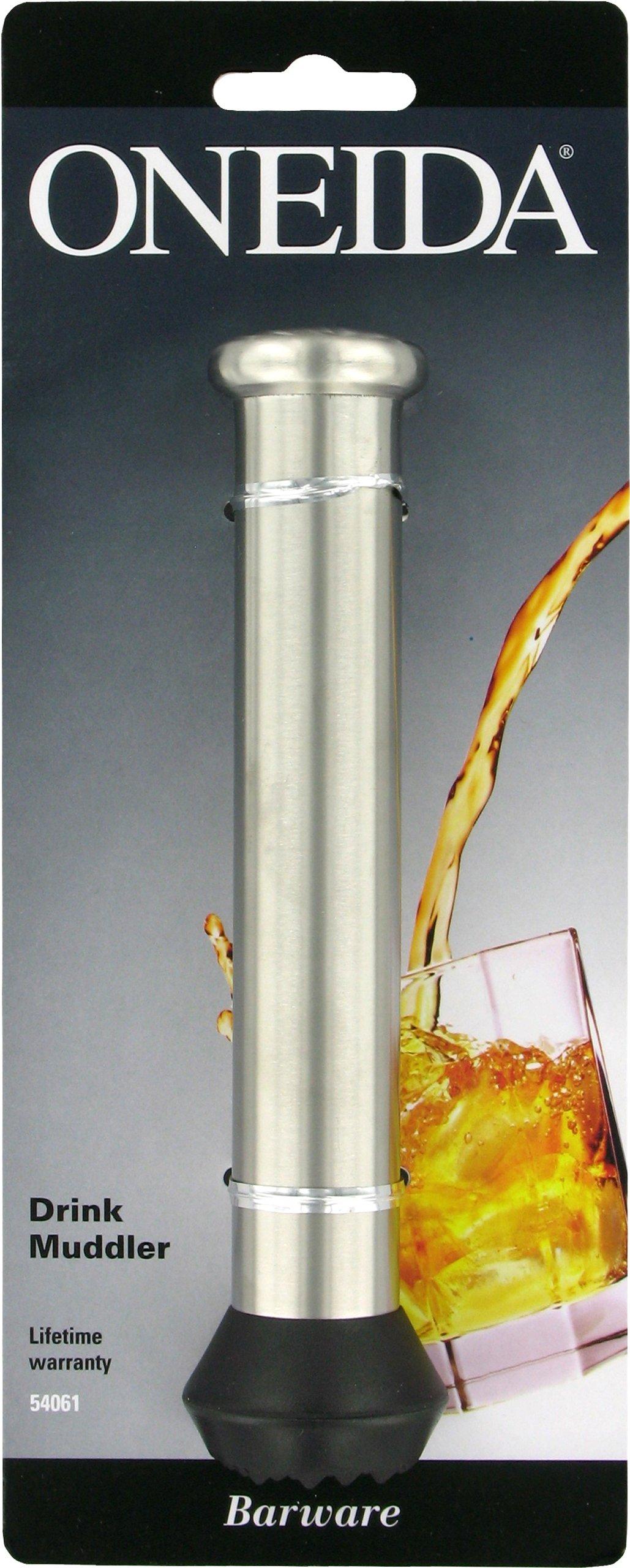 Oneida 6 1/2-Inch Muddler, Stainless Steel