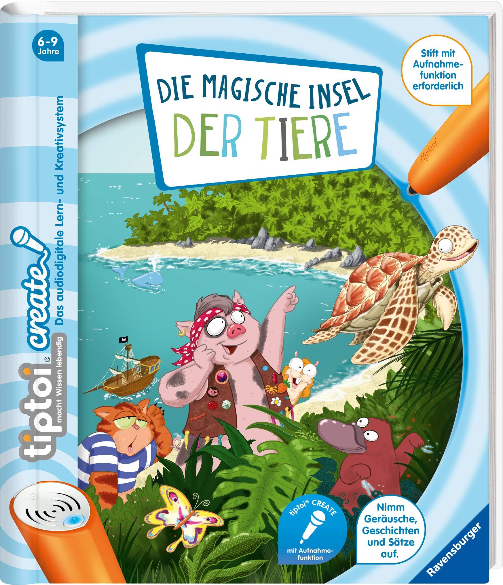 Die magische Insel der Tiere RAVENSBURGER tiptoi® CREATE Buch NEU