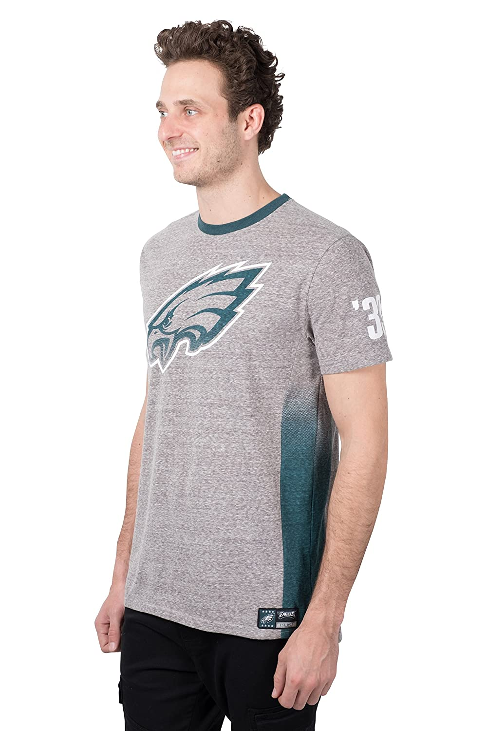 Medium NFL Philadelphia Eagles Ultra Game Mens S//S SNOW JERY CREW TEE Gray