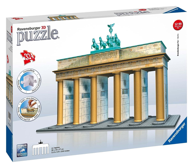 Ravensburger 12551 - Brandenburger Tor-Berlin 3D Puzzle Bauwerke, 324 Teile Ravensburger Spielverlag Architektur Dörfer & Dörfer & Städte
