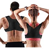 Posture Corrector for Men and Women | Discreet Under Clothes Comfortable and Effective Clavicle Brace for Neck Shoulder Back