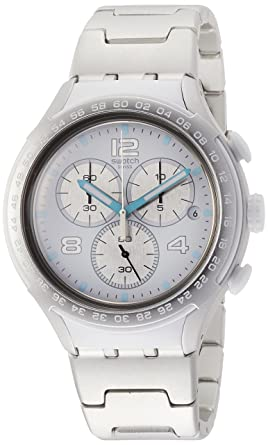 Swatch Mens Pure Attack YYS4024AG Silver Aluminum Swiss Quartz Fashion Watch