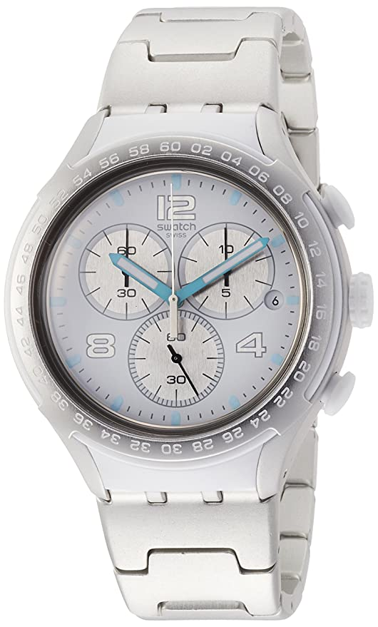 Amazon.com: Swatch Mens Pure Attack YYS4024AG Silver Aluminum Swiss Quartz Fashion Watch: Swatch: Watches