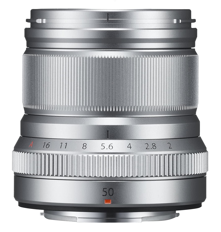 Silver Fujinon XF50mmF2 R WR Lens