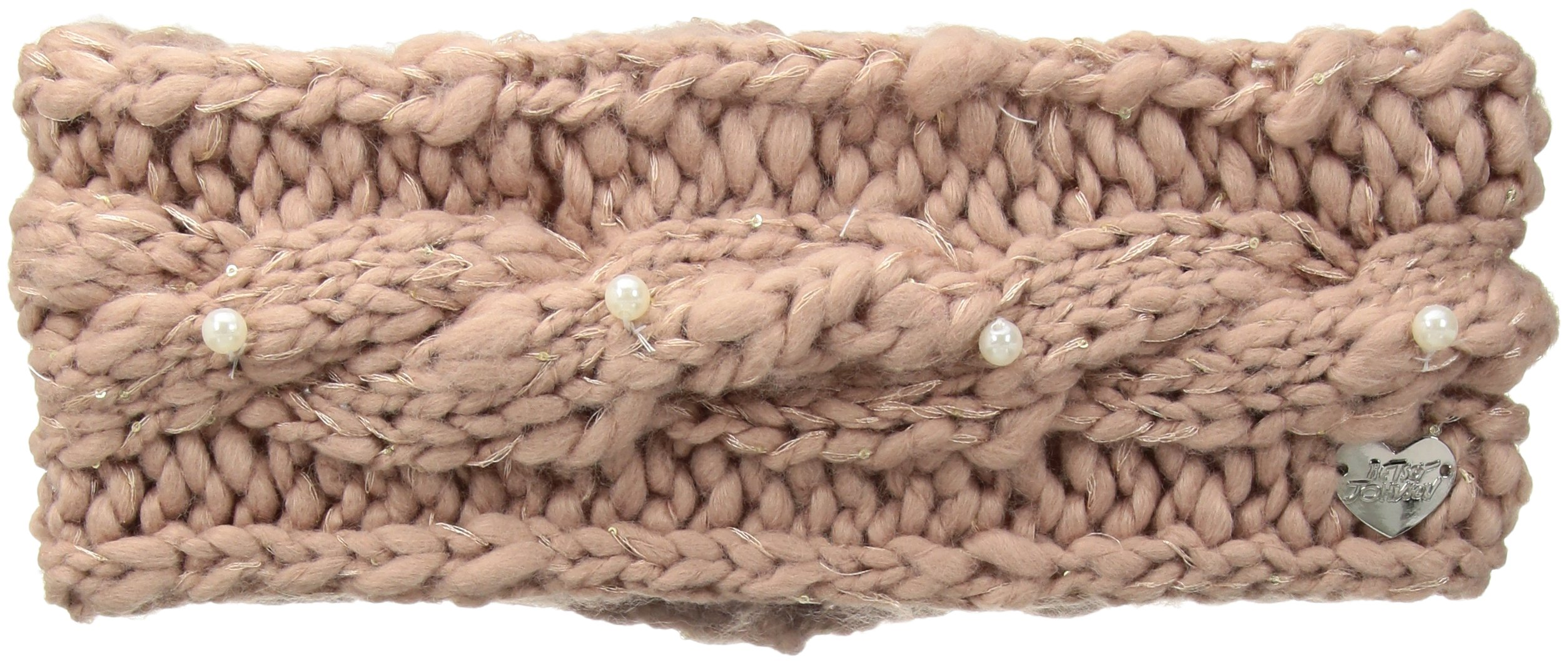 Betsey Johnson Women's Pearly Girl Headband, blush, One Size
