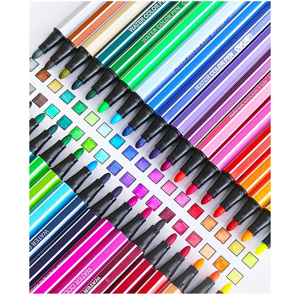 Marcadores Acuarela  12 Colores + niños y Adultos, Seguro : (Color : Seguro 36 Azul) c320ad