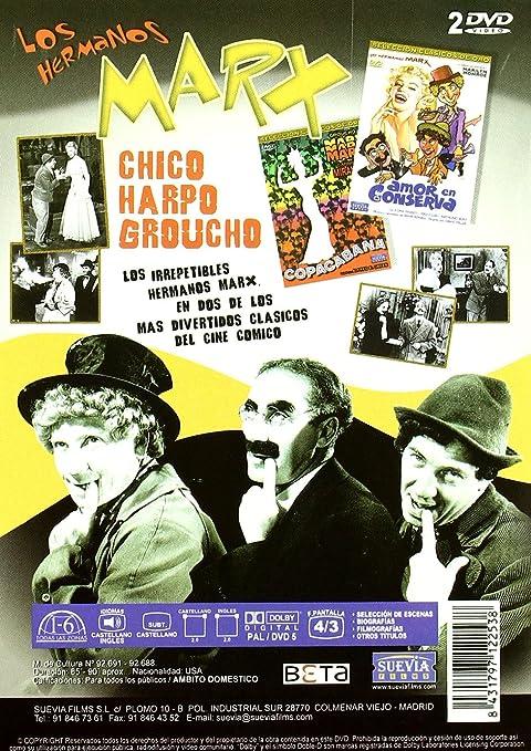 Pack Los hermanos Marx: Amor en conserva + Copacabana DVD: Amazon ...