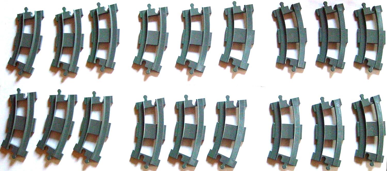 Lego Duplo 18 gebogene Schienen 2735