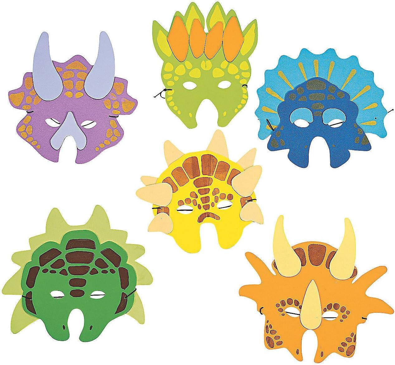 Dinosaure en Mousse Masques