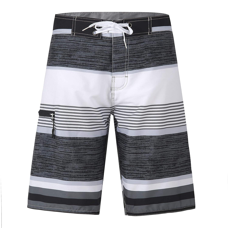 Yaluntalun Mens Swim Trunks Quick Dry Beach Board Shorts Mesh Lining Swimwear Bathing Suits
